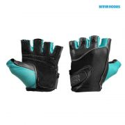 Better Bodies Womens Fitness Gloves Black/Aqua 4818