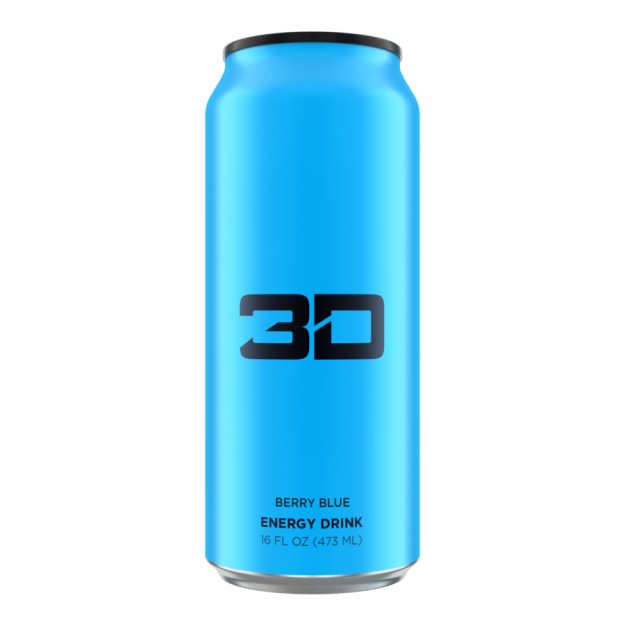 3D Energy Drink 473ml Blue