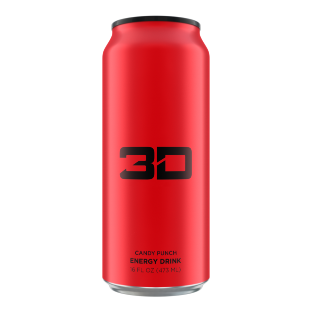 3D Energy Drink 473ml Candy Punch