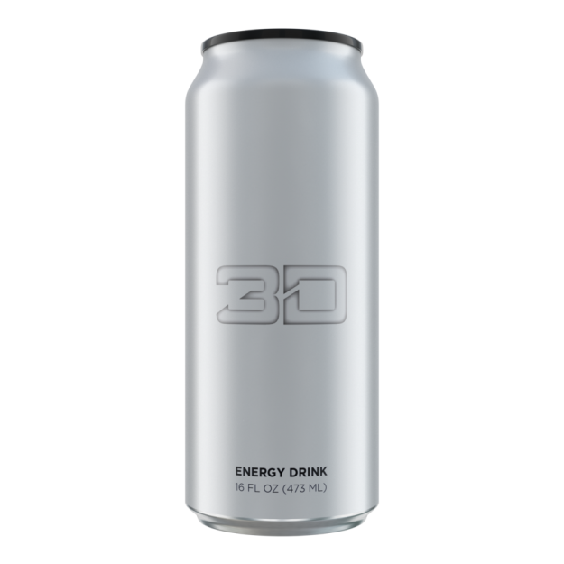 3D Energy Drink 473ml Chrome