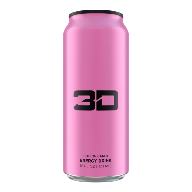 3D Energy Drink 473ml Cotton Candy