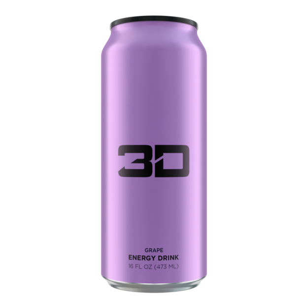 3D Energy Drink 473ml Grape