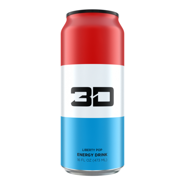 3D Energy Drink 473ml Liberty Pop