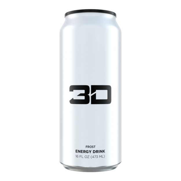 3D Energy Drink 473ml White