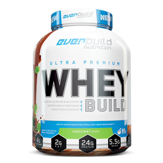 Everbuild Nutrition  Ultra Premium Whey Build 2270g  + Plaktuve !!!!!