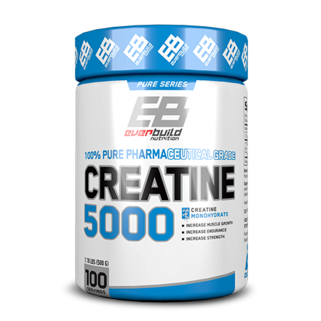 EverBuild Nutrition Creatine Monohydrate 500g 100% grynas