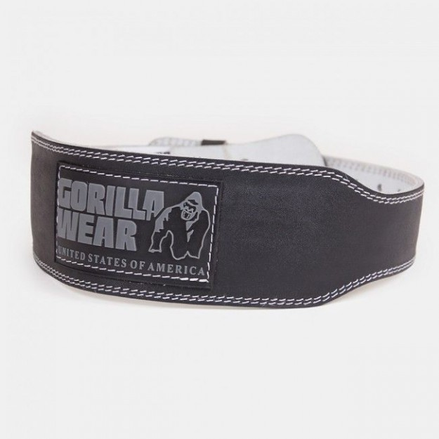 Gorilla Wear 4 INCH Padded Leather Belt - Black