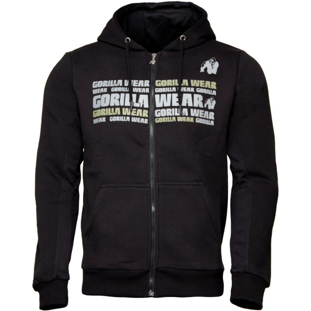 Gorilla Wear Bowie Mesh Zipped Hoodie - Black