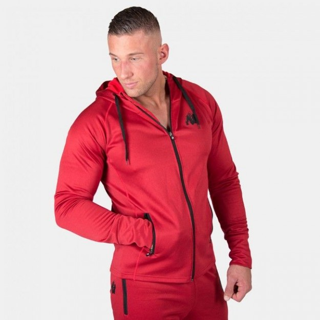 Gorilla Wear Bridgeport Zipped Hoodie - Red