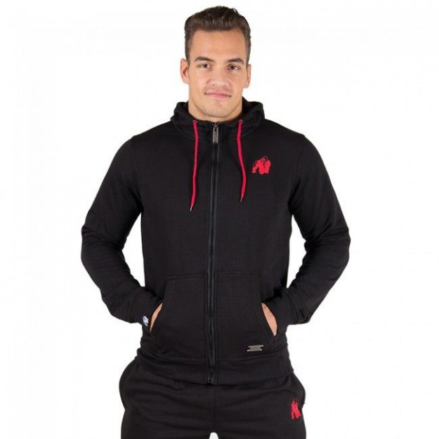 Gorilla Wear Classic Zipped Hoodie - Black