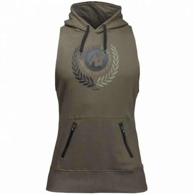 Gorilla Wear Manti Sleeveless Hoodie - Army Green