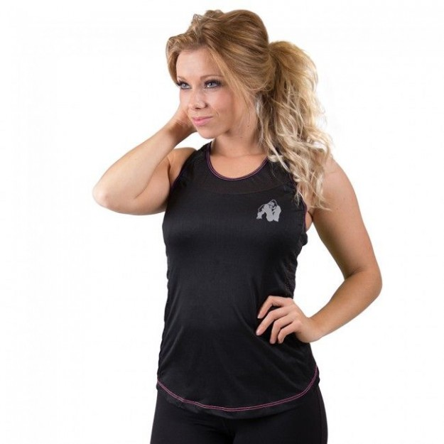 Gorilla Wear Marianna Tank Top - Black/ Pink