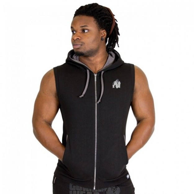 Gorilla Wear Springfield S/L Zipped Hoodie - Black
