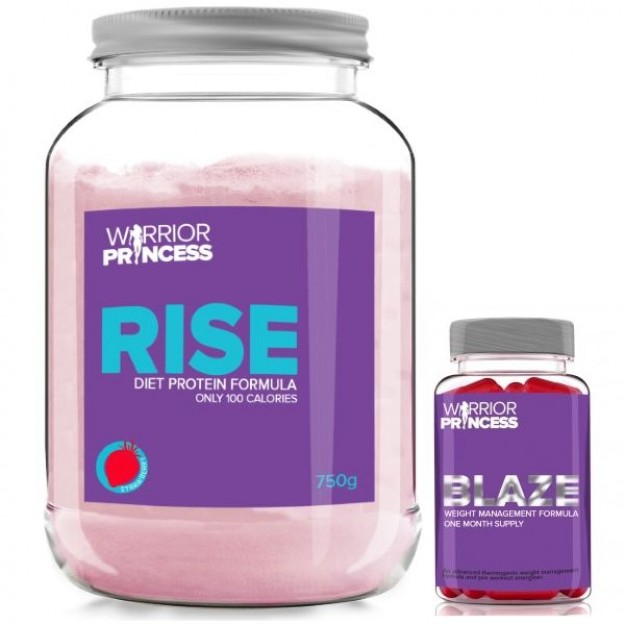 Warrior Princess RISE Diet Whey + Warrior Blaze Princess